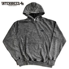 インターブリード パーカー Acid Washed Lo-Fi Hoodie 黒 M-XL 長袖 IB20AW-12 ストリート INTERBREED