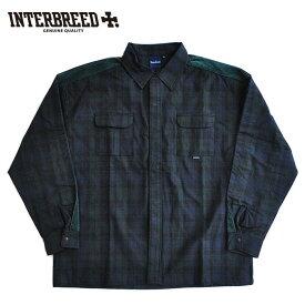 インターブリード シャツ Side Lined Plaid Shirts チェック M-L ネイビー IB20AW-20 ストリート INTERBREED