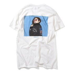 Lafayette ラファイエット Tシャツ BOMBER JACKET GIRLS TEE S-XXL 黒 白 半袖 LA190106 メンズ ストリート