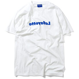 Lafayette ラファイエット Tシャツ MIRROR LOGO TEE ミラーロゴ メンズ 半袖 M-XXL 白 黒 青 紺 LA190114
