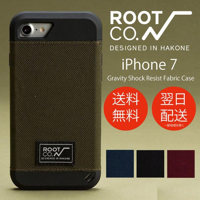 iPhone7 iPhone8専用 スマホケース iPhoneケース mil規格 ROOT CO. ルートコー Gravity Shock Resist Fabric Case./iPhone7 送料無料