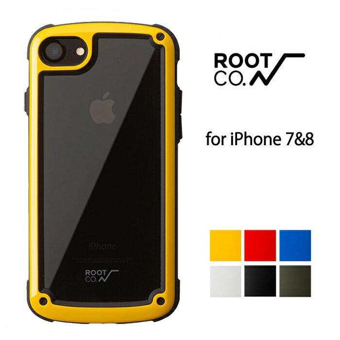 iPhone7 iPhoen8 ケース ROOT CO. Shock Resist Tough & Basic Case. アウトドア 耐衝撃 スマホケース クリア 透明 ハードケース ルートコー