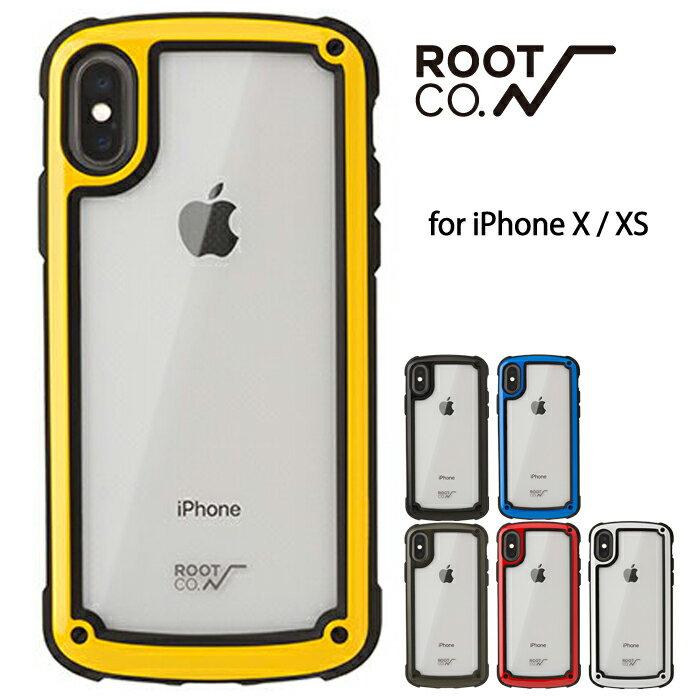 ROOT CO. iphone X iphone XS ケース Shock Resist Tough & Basic Case. アイフォンxs アウトドア 耐衝撃 スマホケース クリア ハードケース