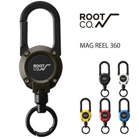 ROOT CO. GRAVITY MAGREEL 360 カラビナ キーホルダー おしゃれ リール マグネット内蔵ホルダー ルートコー 伸びる アウトドア 登山 キャンプ 釣り メンズ ブランド