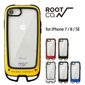 ROOT CO. iPhoneSE 第2世代 iphone8 iphone7 ケース Gravity Shock Resist Case +Hold. iPhone SE2 7/8 アイフォン8 アウトドア 耐衝撃 スマホケース クリア ハードケース ルートコー