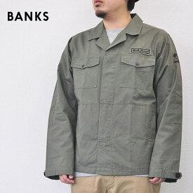BANKS バンクス ジャケット ミリタリー シャツ MAJOR メンズ 18秋冬 グリーン S-XL AJT0035