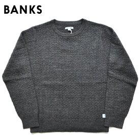 BANKS JOURNAL バンクスジャーナル ニット セーター PROGRESS KNIT ケーブルニット M-XL 黒 AKN0061