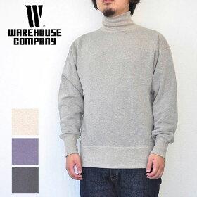【予約】WAREHOUSEウエアハウススウェットLot4654本針タートルネックスウェットメンズ4色M-XL