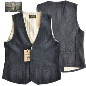 ORGUEIL オルゲイユ ベスト Workers Gilet ジレ メンズ 黒 M-XL OR-4142A