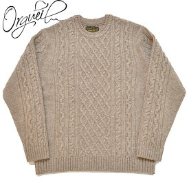 ORGUEIL オルゲイユ セーター Cable Knit メンズ ケーブルニット M-XL OR-4153