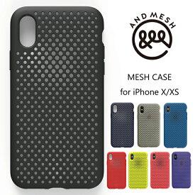 ANDMESH iphoneXS iphoneX アンドメッシュ Mesh Case カバーケース ブラック ネイビー 耐衝撃 スマホケース MIL規格 M1858