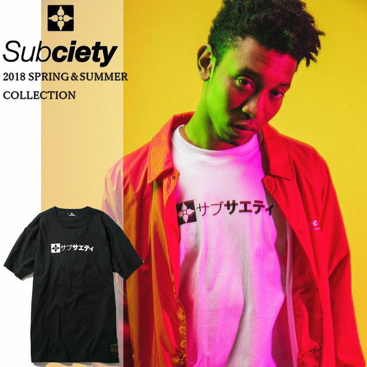 SUBCIETY サブサエティ ザ・ベース S/S Tシャツ 春夏 白/黒 メンズ 半袖 ストリート サブサエティー 40228
