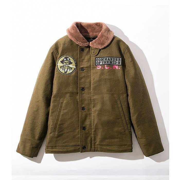 SUBCIETY サブサエティ ジャケット N-1 DECK JKT メンズ 緑/紺 N-1 デッキジャケット アウター S-XL 107-62306 サブサエティー