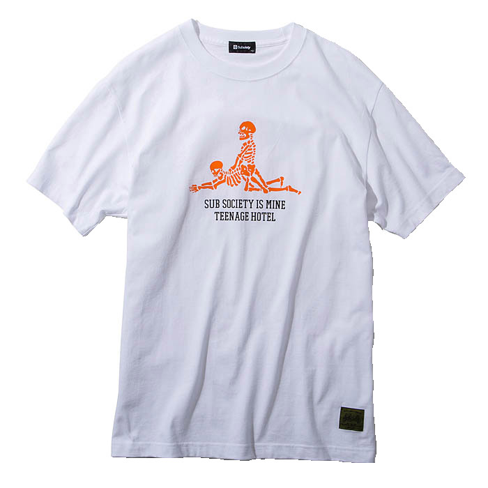 【予約】SUBCIETY サブサエティ Tシャツ REST S/S メンズ ストリート 白 M-XL 108-40373 サブサエティー