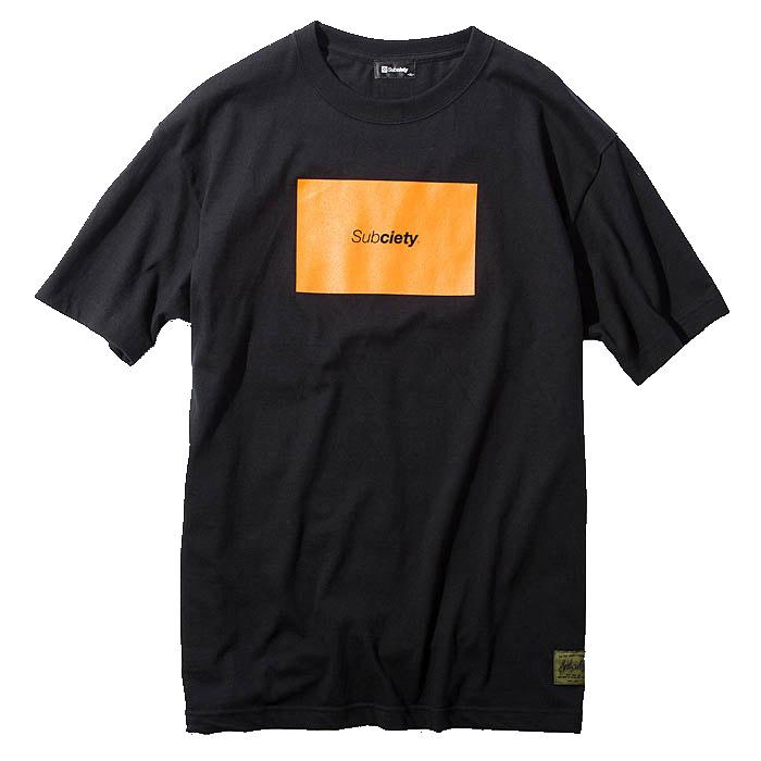【予約】SUBCIETY サブサエティ Tシャツ RATIO S/S メンズ ストリート 白/黒 M-XL ロゴ 105-40079 サブサエティー