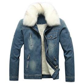 ジャケット デニムジャケット メンズ アウター デニム 裏起毛 カジュアル Gジャン ジャケット デニム ジージャン 大きいサイズ 羽織り お兄系 ファッション 服 秋冬 アウター暖かい