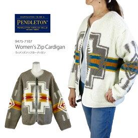 【NEW】PENDLETON ペンドルトン 9475-7107 Women's Zip Cardigan ウィメンズ フリース ジップ カーディガン レディース ボア ジャケット ブルゾン Harding ハーディング