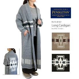 【NEW】PENDLETON ペンドルトン 9575-8107 LONG CARDIGAN ロング カーディガン ニット レディース Harding ハーディング柄