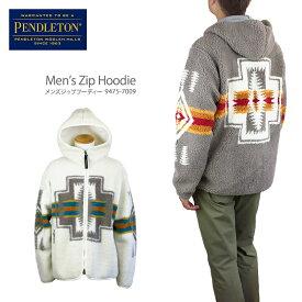 【NEW】PENDLETON ペンドルトン 9475-7009 Men's Zip Hoodie メンズ ジップ フーディ フリース ジャケット メンズ レディース Harding ハーディング柄