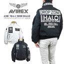 【10%OFF!】AVIREX アビレックス 6192176 AVIREX アヴィレックス AMC MA-1 MOD HALO フライトジャケット モデファイ ハロ ma-1