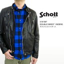 2840c93caf SCHOTT shot 3181067 DOUBLE BREST RIDERS JACKET double-breasted coat riders  jacket blouson leather men