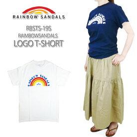 【40%OFF!】RAINBOW SANDALS レインボー サンダル LOGO T-SHIRT ロゴ T シャツ メンズ & レディース サイズ RBSTS-19S