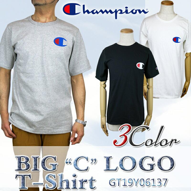 【NEW】チャンピオン tシャツ ビッグロゴ GT19Y06137 CHAMPION BIG C LOGO T-Shirt TEE ビッグ C メンズ レディース