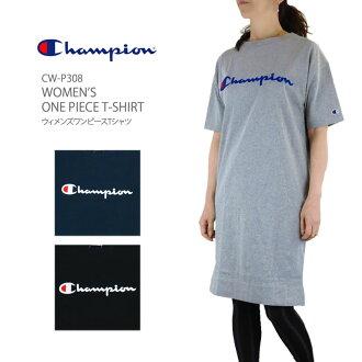 CHAMPION champion CW-P308 WOMEN'S ONE PIECE T-SHIRT women dress T-shirt long T Lady's Ladie's dress