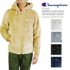 【NEW】チャンピオン フリース パーカー Champion SHERPA FLEECE BOA ZIP HOODED JACKET シェルパフリース ボア ジップ フーデッド ジャケット メンズ C3-L615