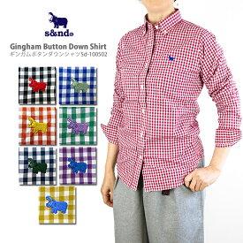 【50%OFF!】s&nd セカンド Sd-100502 Gingham Button Down Shirt ギンガムボタンダウンシャツ Ladie's レディース