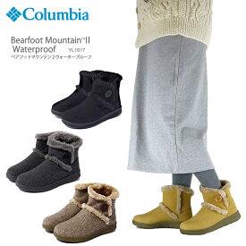 【50%OFF!】コロンビア ブーツ スノーブーツ COLUMBIA YL1017 ベアフット マウンテン 2 ウォータープルーフ レディース ムートン 防水