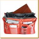 バッグインバッグ バックインバッグ オレンジ ポーチ バッグ 収納 化粧ポーチ 化粧 コスメ 機能的 小物入れ オフィス …