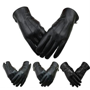レザー 本革手袋 羊革 皮 ナッパ革 手袋 レディース 冬 保温 防寒 本皮手袋 レザー手袋 ラムレザー ブラック TPL-1701
