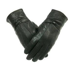 レザー 羊革手袋 皮 ナッパ革 手袋 レディース 冬 保温 防寒 本皮手袋 レザー手袋 ブラック 本革手袋 ラムレザー TP1502