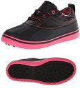 【レディース】クロックス crocs ALLCAST DUCK オールキャスト ダック  スパイクレス ゴルフシューズ 15068-02T Black/Hot ...