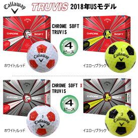 キャロウェイ 2018年クロムソフト トゥルービス クロムソフト X トゥルービス 4ピース ゴルフボール 1ダース(12個入) [CALLAWAY CHROME SOFT TRUVIS、CHROME SOFT XTRUVIS 4-PIECE GOLF BALL] USモデル