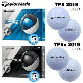 テーラーメイド 2019年 TP5 シリーズ 5ピース ゴルフボール 1ダース(12個入) [TaylorMade 2019 TP5 SERIES 5-PIECE GOLF BALL] USモデル
