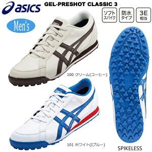 アシックス(asics) メンズゲルプレショット クラシック 3 (GEL-PRESHOT CLASSIC 3) スパイクレス ゴルフシューズ 1113A009 インポートモデル