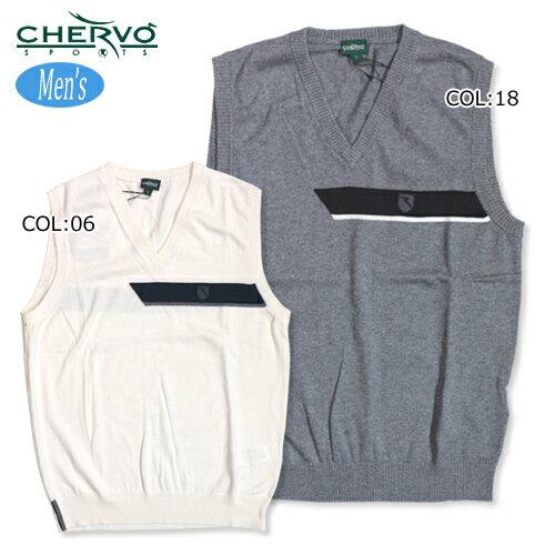 【シェルボ】【CHERVO】 031-48971 メンズ ニットベスト Vネック
