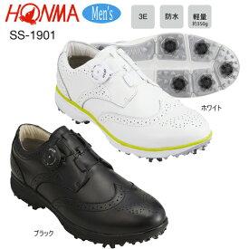 本間ゴルフ(ホンマ) メンズ 天然皮革 ダイヤル式 防水 ソフトスパイク ゴルフシューズ SS-1901 [HONMA GOLF SOFT SPIKES GOLF SHOES SS1901]