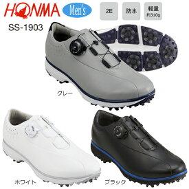 本間ゴルフ(ホンマ) メンズ ダイヤル式 防水 ソフトスパイク ゴルフシューズ SS-1903 [HONMA GOLF SOFT SPIKES GOLF SHOES SS1903]