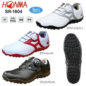 本間ゴルフ(ホンマ) メンズ ダイヤル式 防水 スパイクレス ゴルフシューズ SR-1604 [HONMA GOLF SPIKELESS GOLF SHOES]