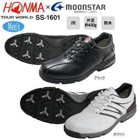 本間ゴルフ(ホンマ) メンズ ツアーワールド 防水 ソフトスパイク ゴルフシューズ SS-1601 [HONMA GOLF TOUR WORLD SOFT SPIKES GOLF SHOES]