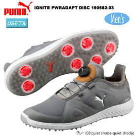 プーマゴルフ メンズ イグナイト パワーアダプト ディスク ソフトスパイク ゴルフシューズ 190582-03 [PUMA GOLF Men's IGNITE PWRADAPT DISC SOFT SPIKES GOLF SHOES] USモデル
