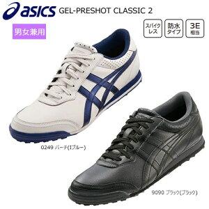 アシックス(asics) 男女兼用ゲルプレショット クラシック 2 (GEL-PRESHOT CLASSIC 2) スパイクレス ゴルフシューズ TGN915 インポートモデル