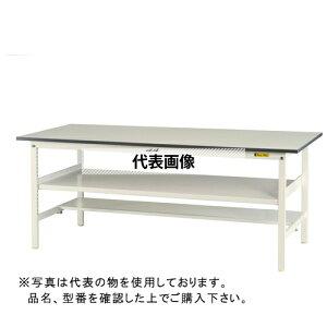 山金工業 ワークテーブル150シリーズ 固定式H740 中間棚・半面棚板付 SUP-TF SUP-1245TF-WW [個人宅配送不可]