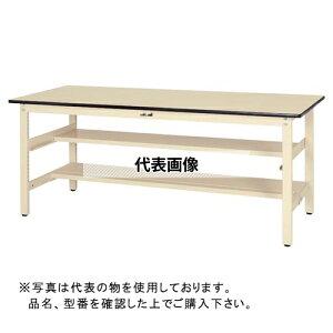 山金工業 ワークテーブル300シリーズ 固定式H740 中間棚・半面棚板付 SWR-TS1 SWR-1575TS1-GG [個人宅配送不可]