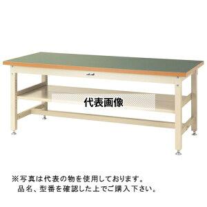 山金工業 ワークテーブル スーパータイプH740 中間棚付 SSR-S2 SSR-1275S2-GI [個人宅配送不可]