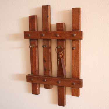 hook wooden key rack wall storage wall hook key rack accessory rail antique retro