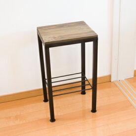 W&Iハイスツール バースツール 高さ60cm ハイスツール キッチンスツール スツール 椅子 いす カウンターチェア カウンタースツール 花台 木製 ウッド アイアン カントリー アンティーク 北欧 カフェ レトロ 完成品W&I ハイスツール